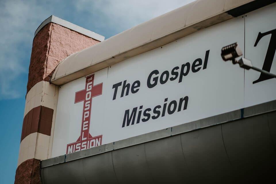 The Gospel Mission sign